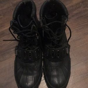 Lauren Quanita Black Sz Ralph 13 Polo Boots XONPw08nk